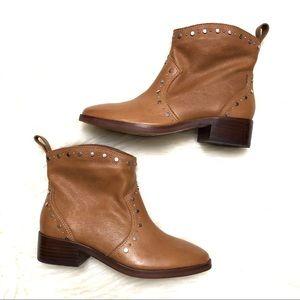 Dolce vita Tobin tan studded western bootie